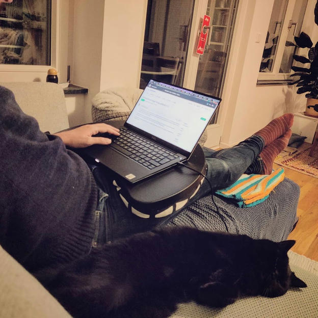 Photo shared by Coffee'n'Code on November 29, 2020 tagging @comment_sense, @thepracticaldev, @code.community, @lovecoders, @coding_deck, @codeclique, @_whatthetech, and @_devcommunity. May be an image of one or more people, cat and laptop.