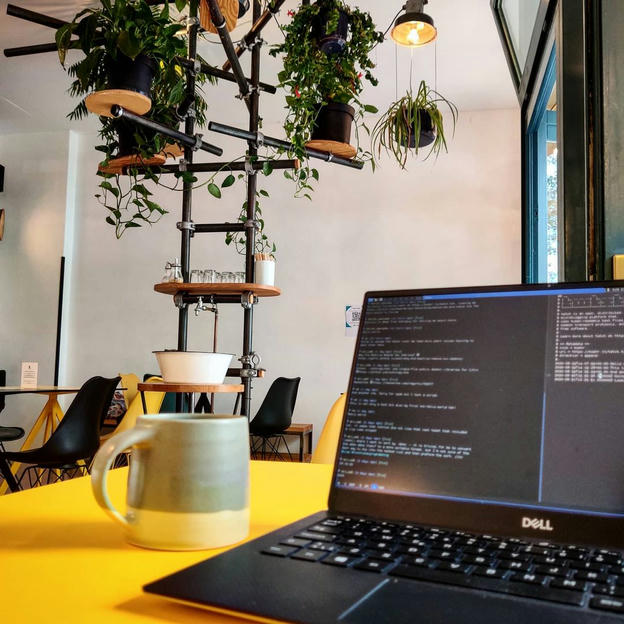 Photo shared by Coffee'n'Code on August 31, 2020 tagging @dell, @happybaristas, @comment_sense, @code.community, @coderlifes, @programunity, @codeclique, @_whatthetech, and @_devcommunity. May be an image of text that says 'DELL'.