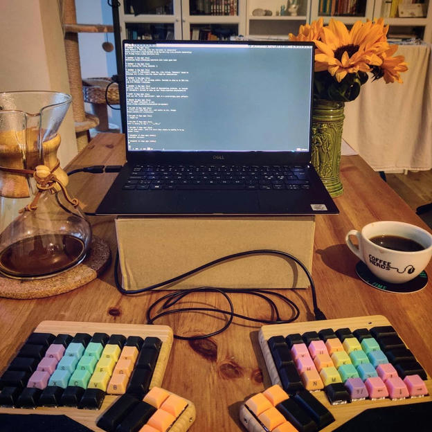 Photo shared by Coffee'n'Code on November 12, 2020 tagging @c3coffeenerds, @comment_sense, @falba.tech, @code.community, @lovecoders, @coding_deck, @codeclique, @_whatthetech, and @_devcommunity. May be an image of laptop.